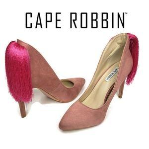 Cape Robbin dusty rose tassle high heels size 5.5